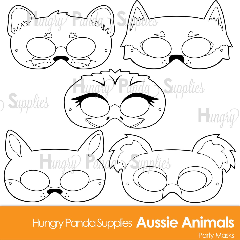 1500x1500 Australian Animals Printable Coloring Masks Aussie Animal