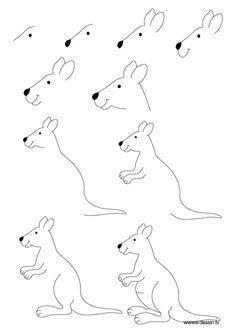 236x333 Como Dibujar Un Canguro Clases De Dibujo Draw