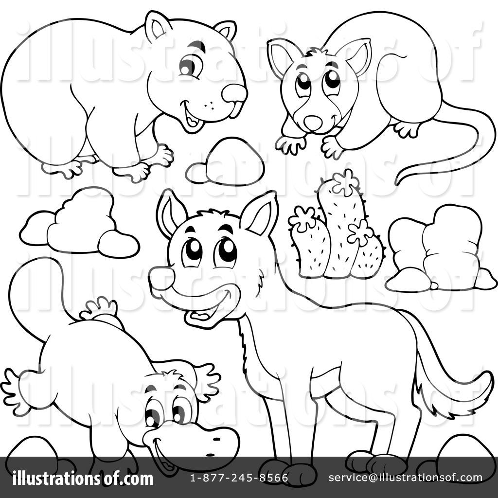 1024x1024 Australian Animals Clipart