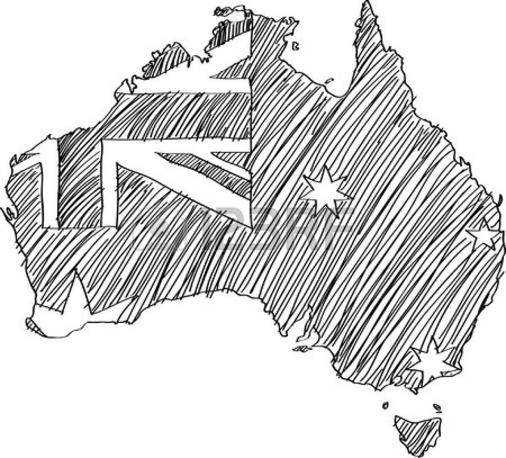 Australian Flag Drawing