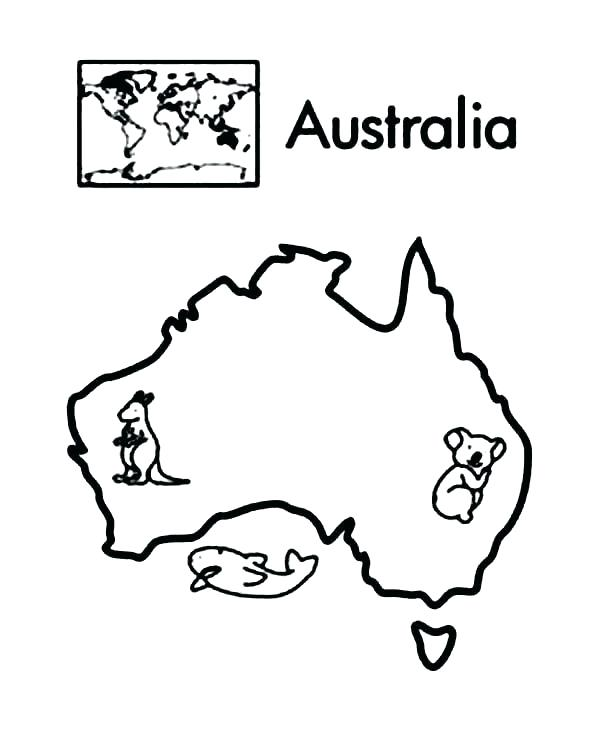 600x755 Australian Coloring Pages Coloring Pages Continent In World Map
