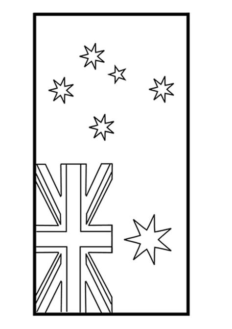 474x671 Australian Flag Coloring Page For Kids