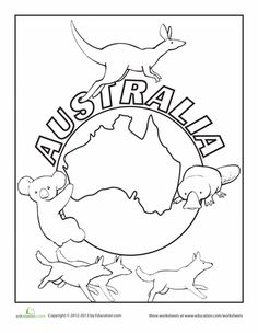236x304 Australian Flag Coloring Page