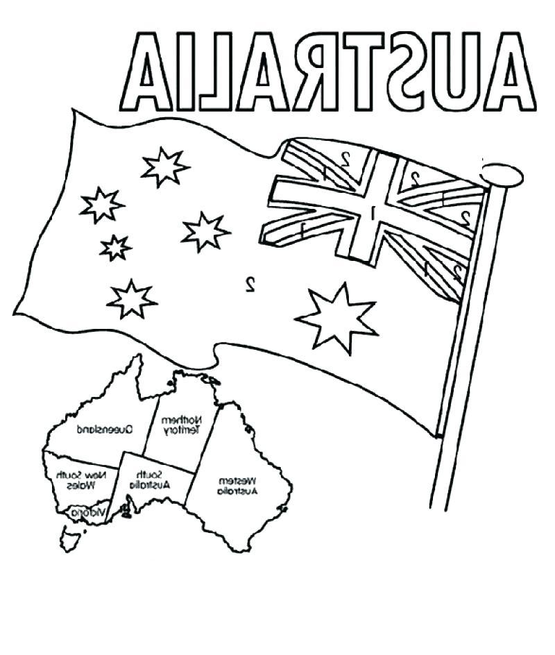 800x944 Flag Australia Coloring Page Flag Free Printable Flags