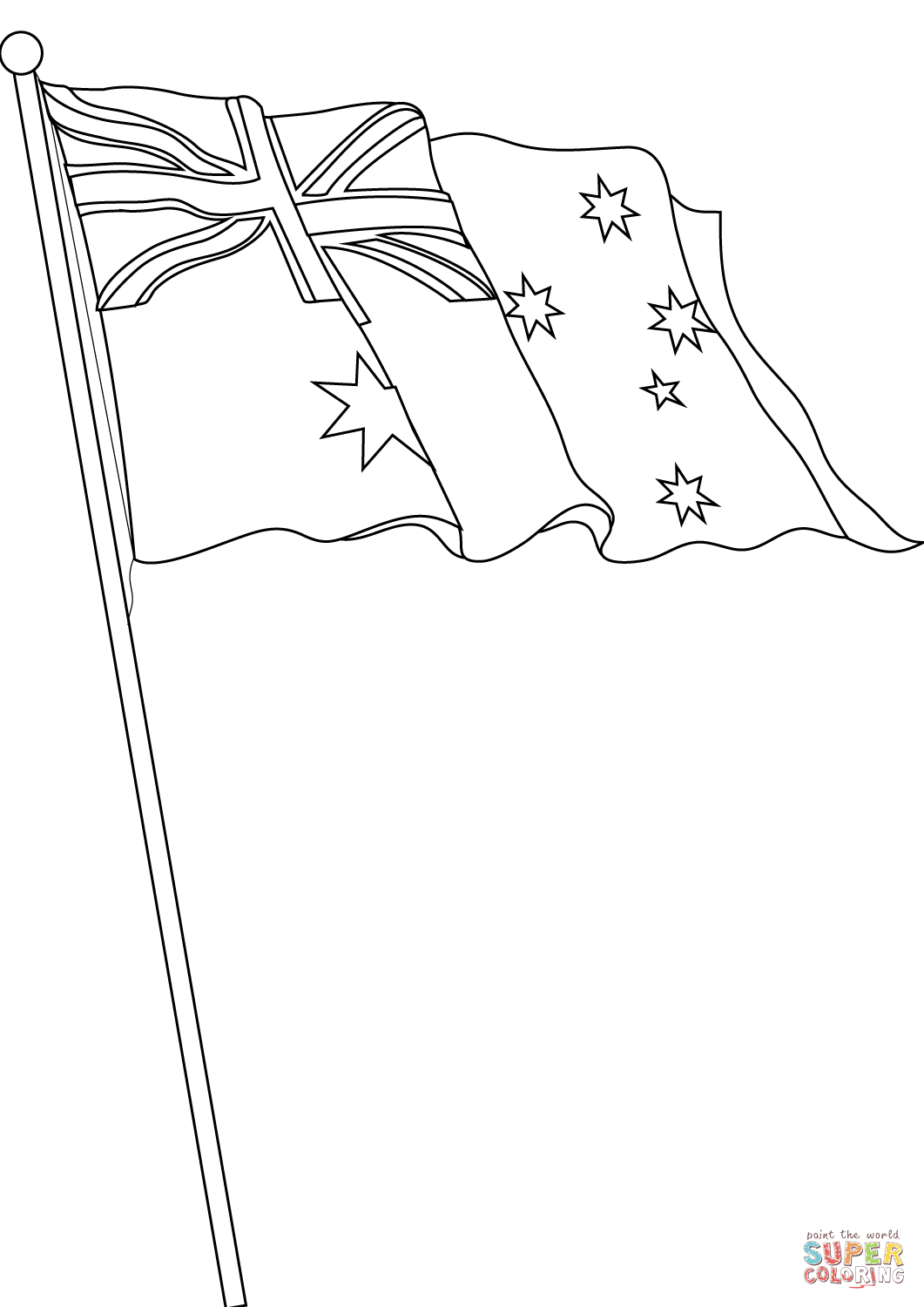 1061x1500 Flag Of Australia Coloring Page Free Printable Pages