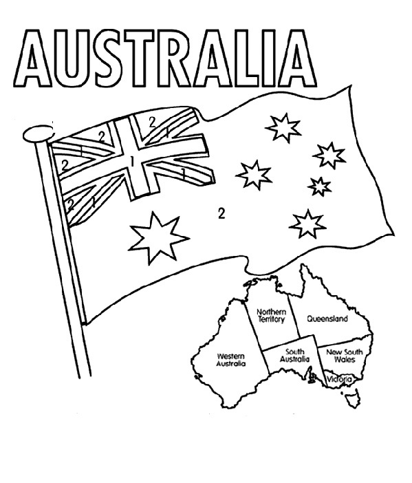599x702 The Australian Flag Flying Day Coloring For Kids Girl Scouts