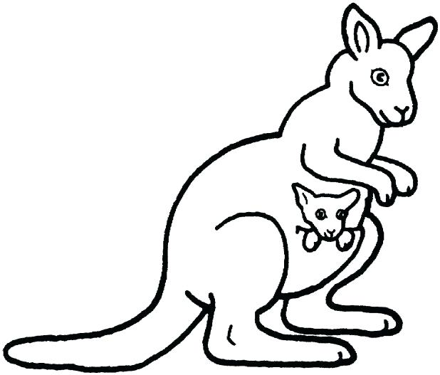 618x527 Australia Flag Coloring Page Kangaroo Coloring Pages With Joey