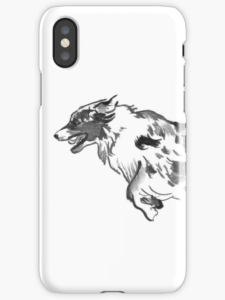 750x1000 Australian Shepherd Drawing Iphone Cases Amp Skins By Douglas