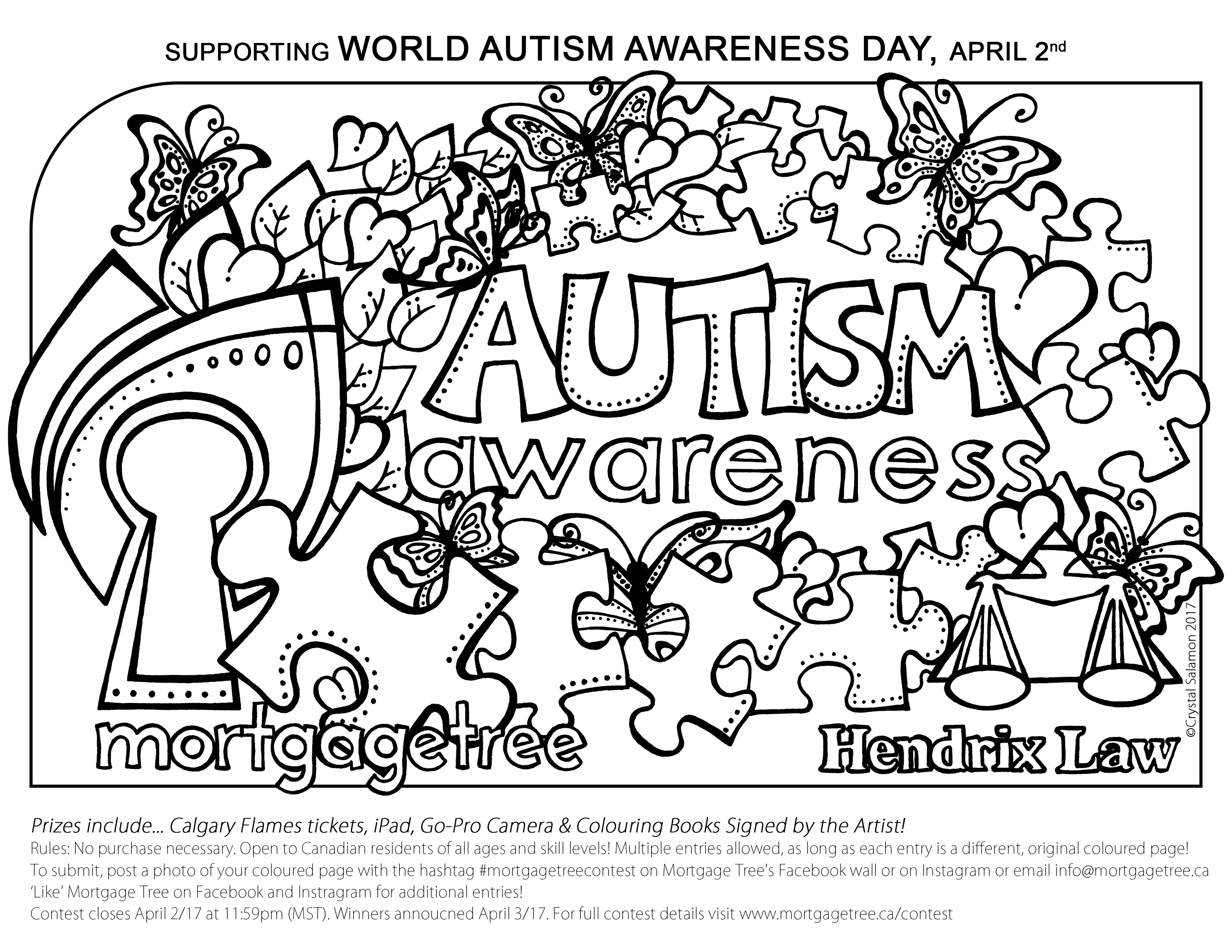 3300x2550 Autism Awareness Colouring Contest