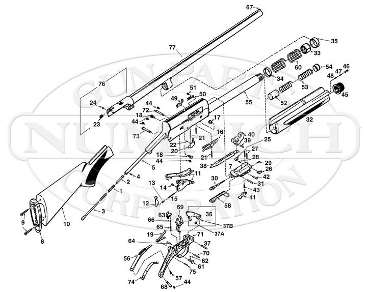 Diagram Browning A5 Parts Diagram Browning A5 Parts Diagram Image