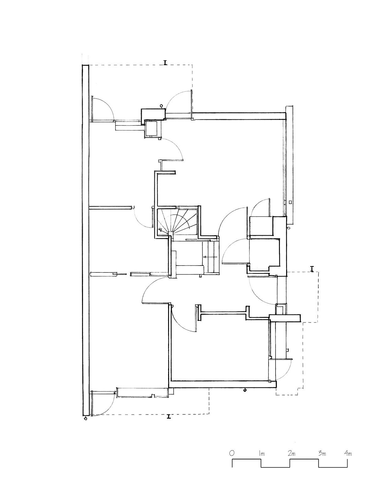 1233x1600 Download Schroder House Autocad Floor Plan Adhome