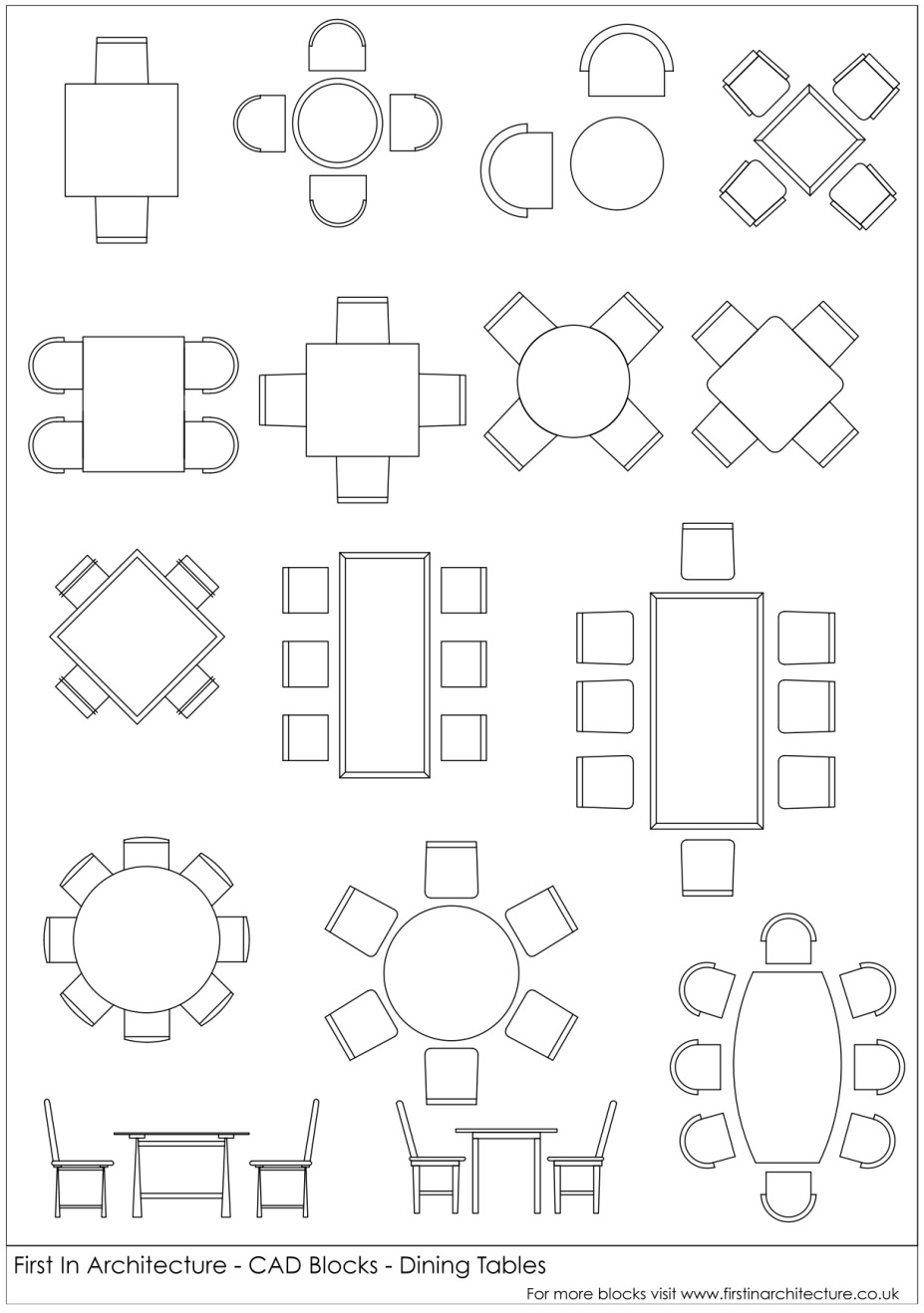 927x1318 Fia Cad Blocks Dining Tables Dimensions Autocad