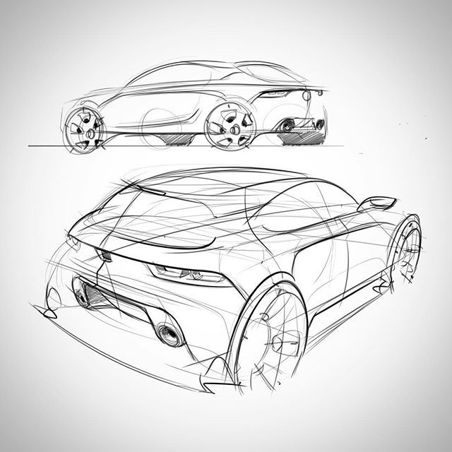640x640 How One Can Draw A Automotive Step By Step