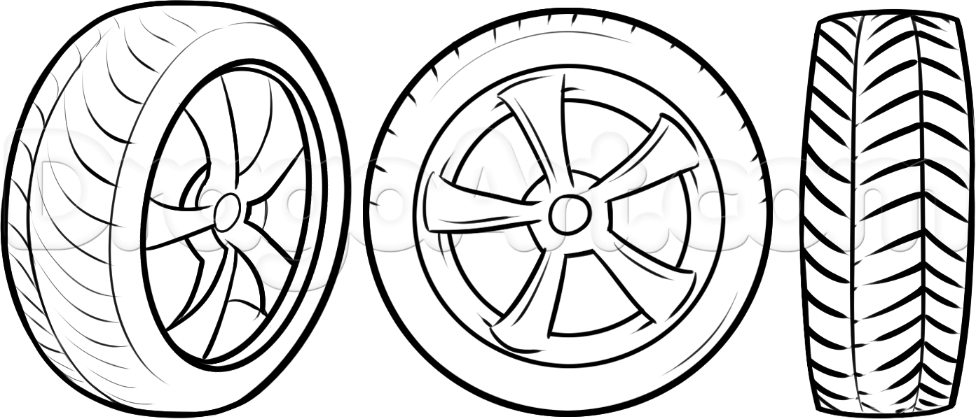 1393x599 How To Draw Tires, Step By Step, Cars, Draw Cars Online