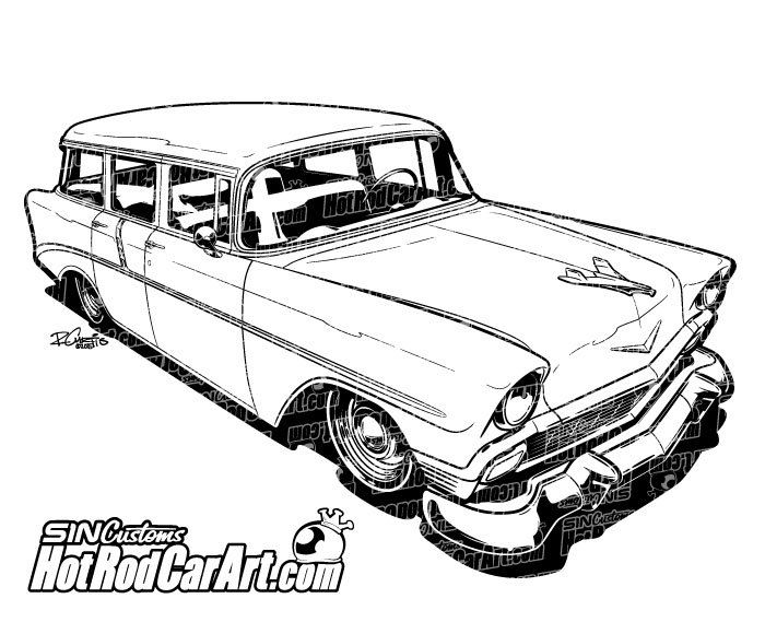 Automobile Line Drawing