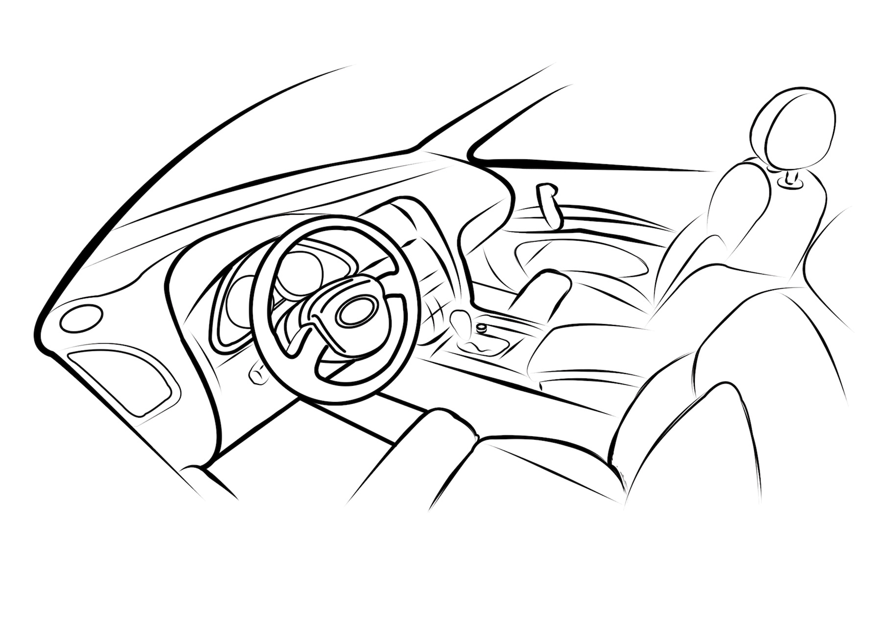 automobile line drawing at getdrawings com