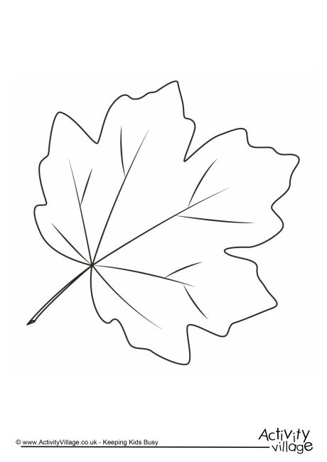 460x650 Autumn Leaf Colouring Page 3 Coloring Autumn Leaf