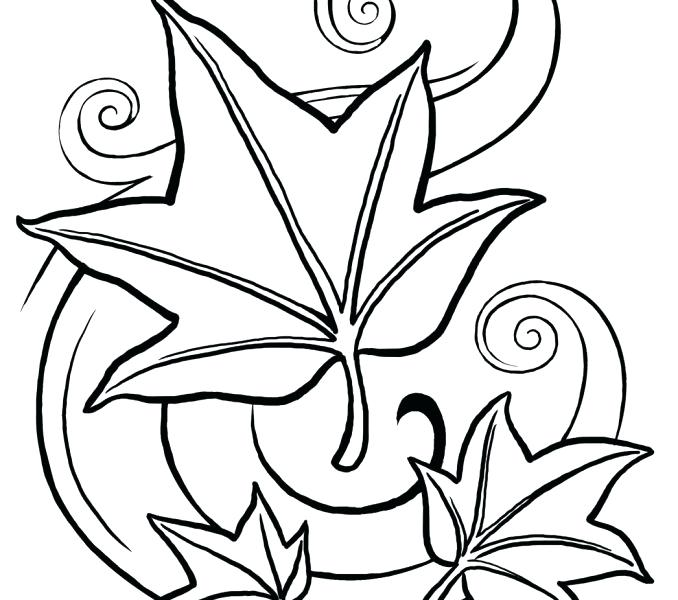 678x600 Printable Leaves Coloring Pages Surprising Idea Leaves Coloring