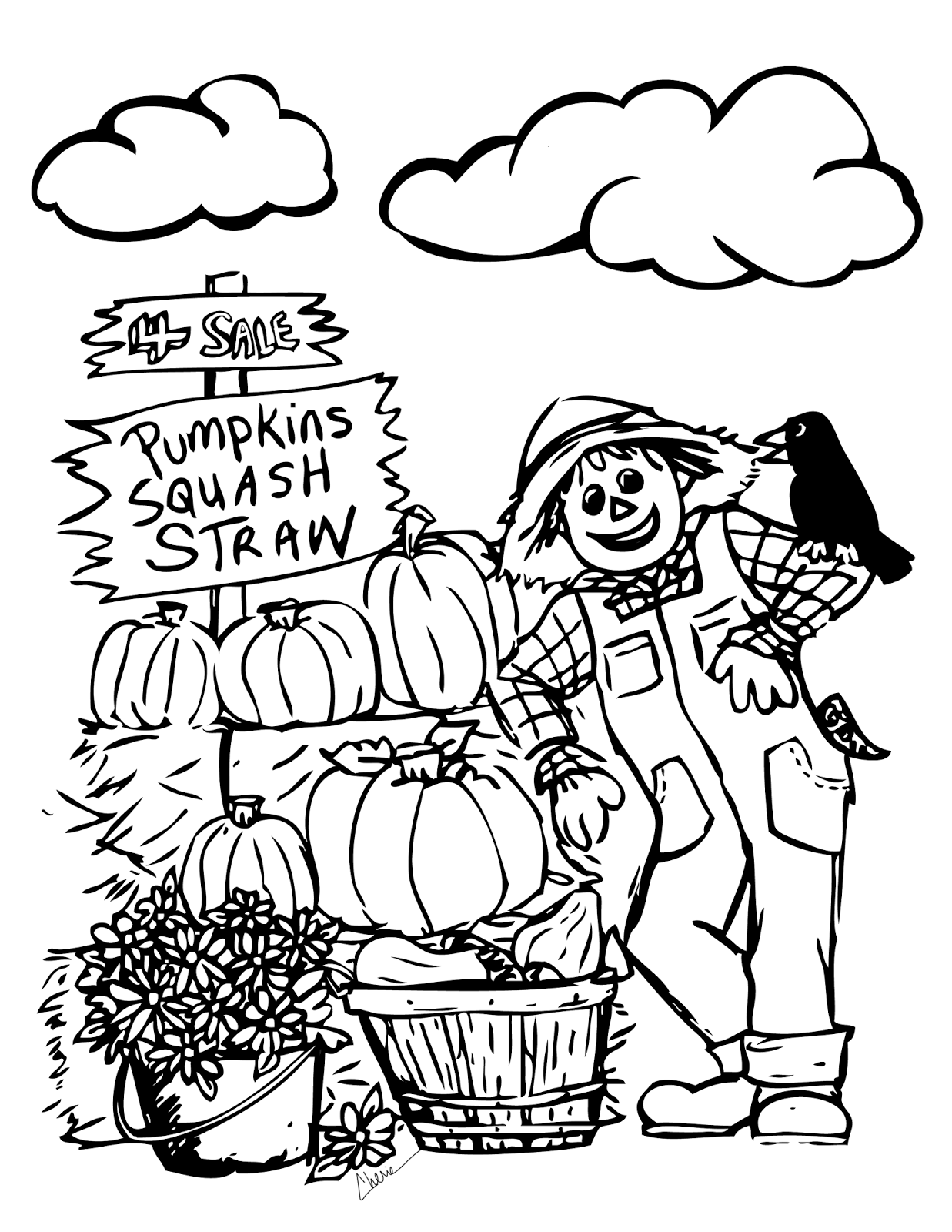 Autumn Scene Drawing at GetDrawings.com | Free for personal use ...