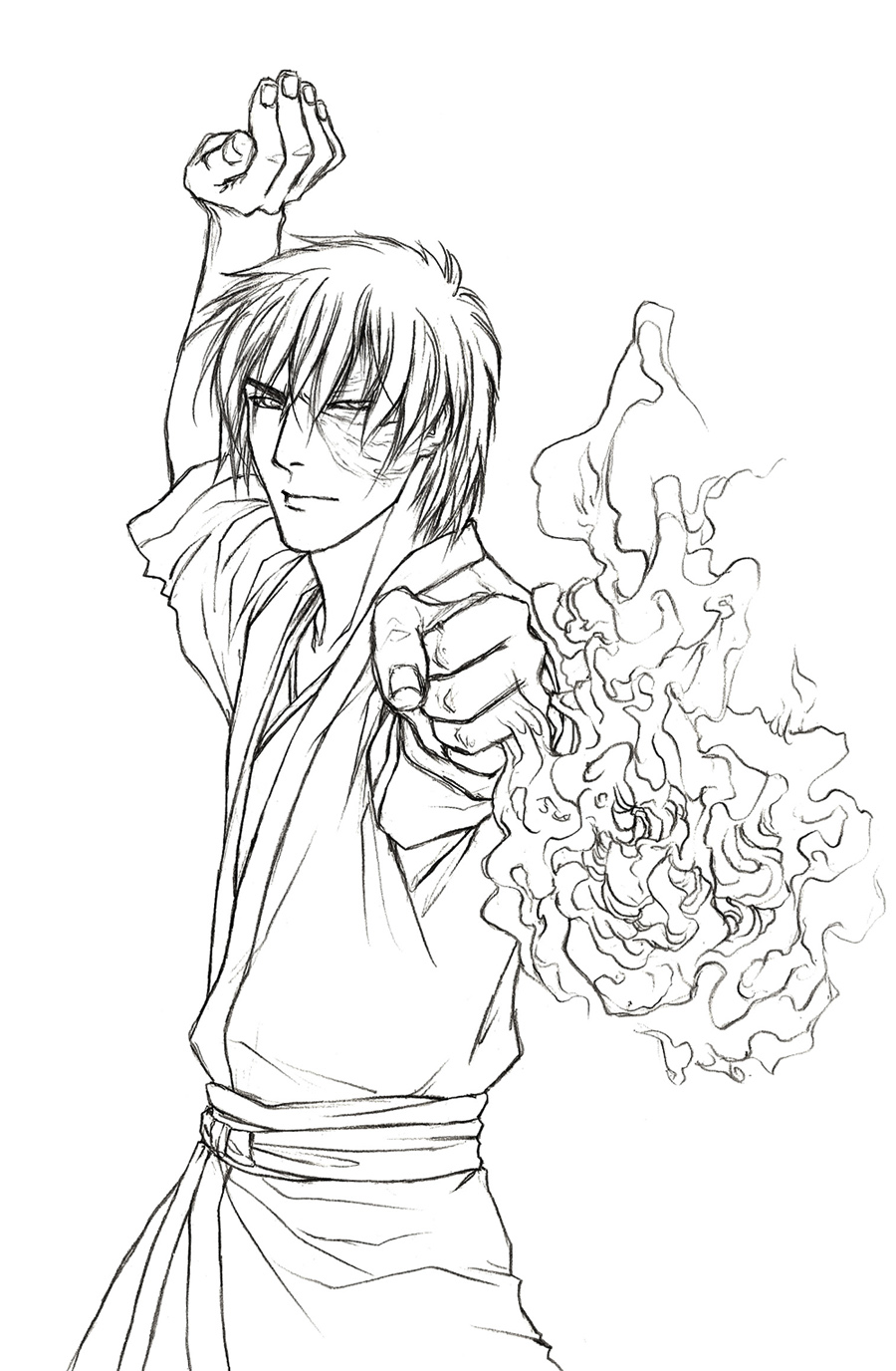 Avatar the last airbender drawing at for Avatar the last airbender coloring pages toph