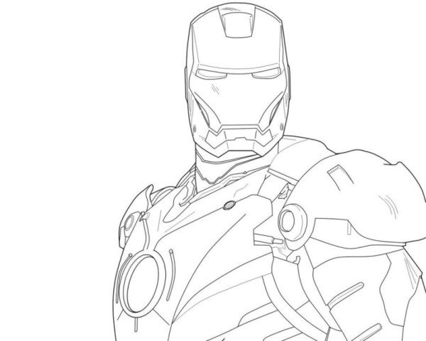 600x480 Avengers Iron Man 3 Coloring Pages