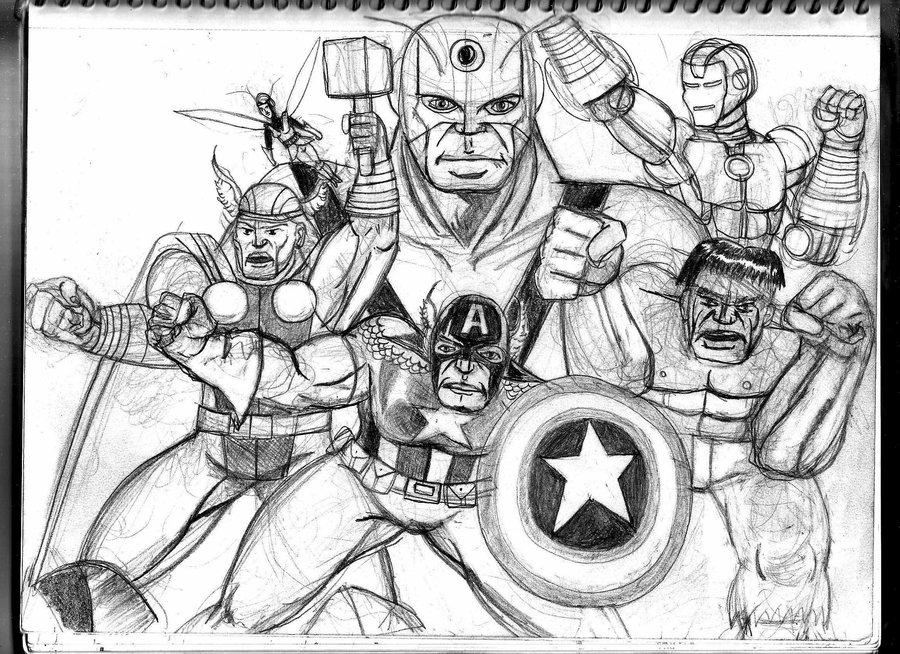 Fan Art Avengers Drawings Cartoon
