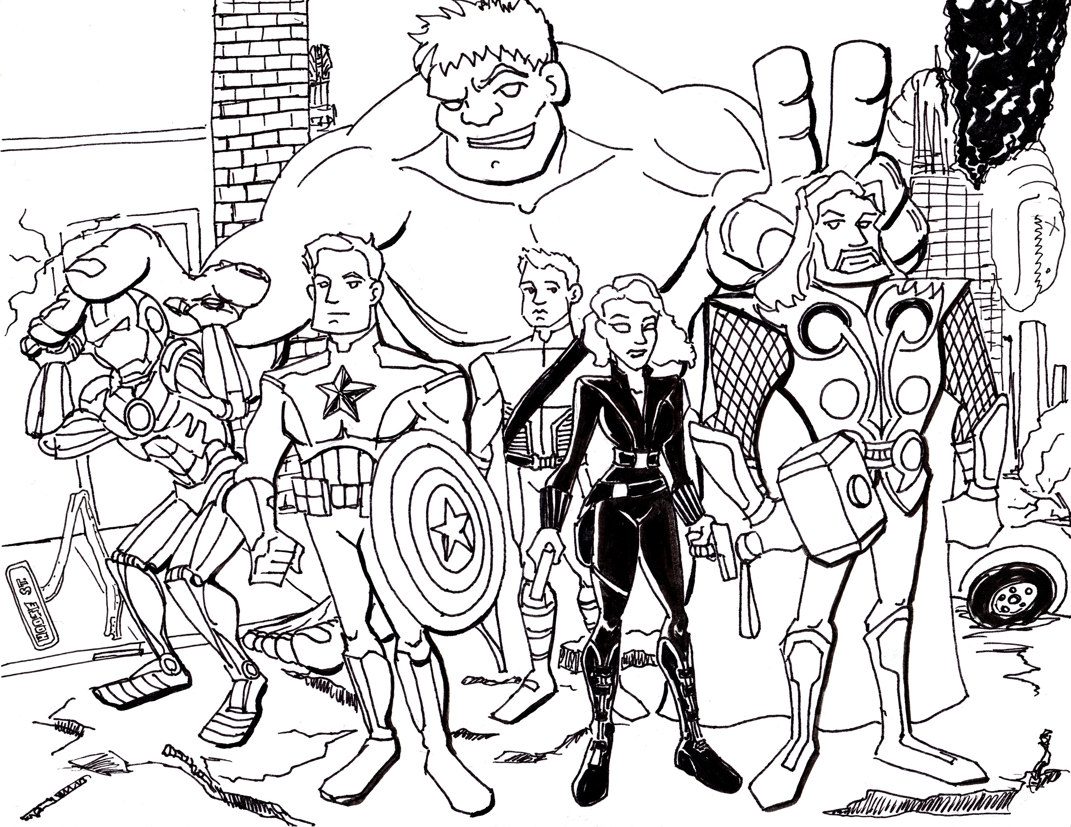 2200x1700 Coloring Pages Extraordinary The Avengers Marvel