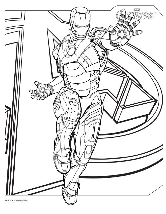670x861 Interesting Marvel Avengers Coloring Pages 35 On For Kids