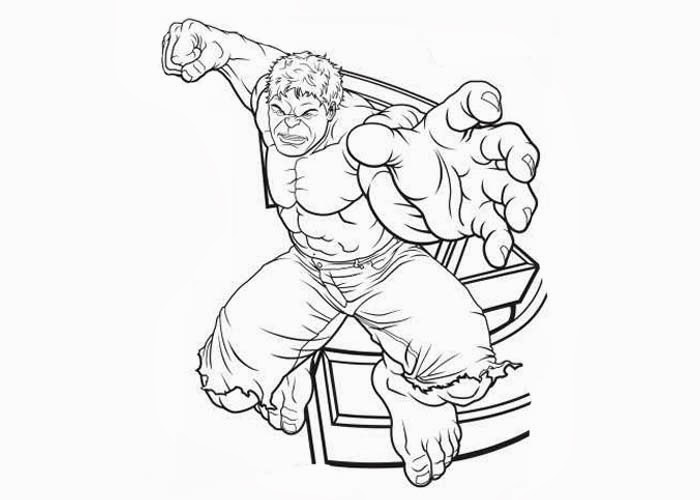 700x500 Avengers Hulk Coloring Pages Printable Page For Kids