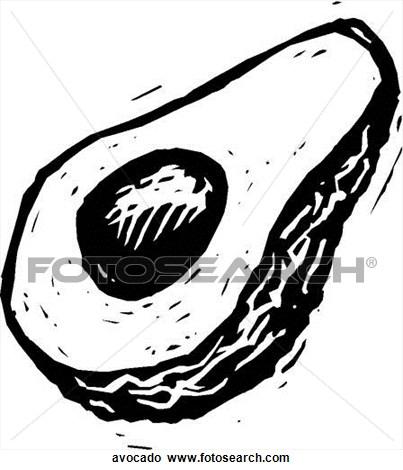403x470 Avocado Drawing