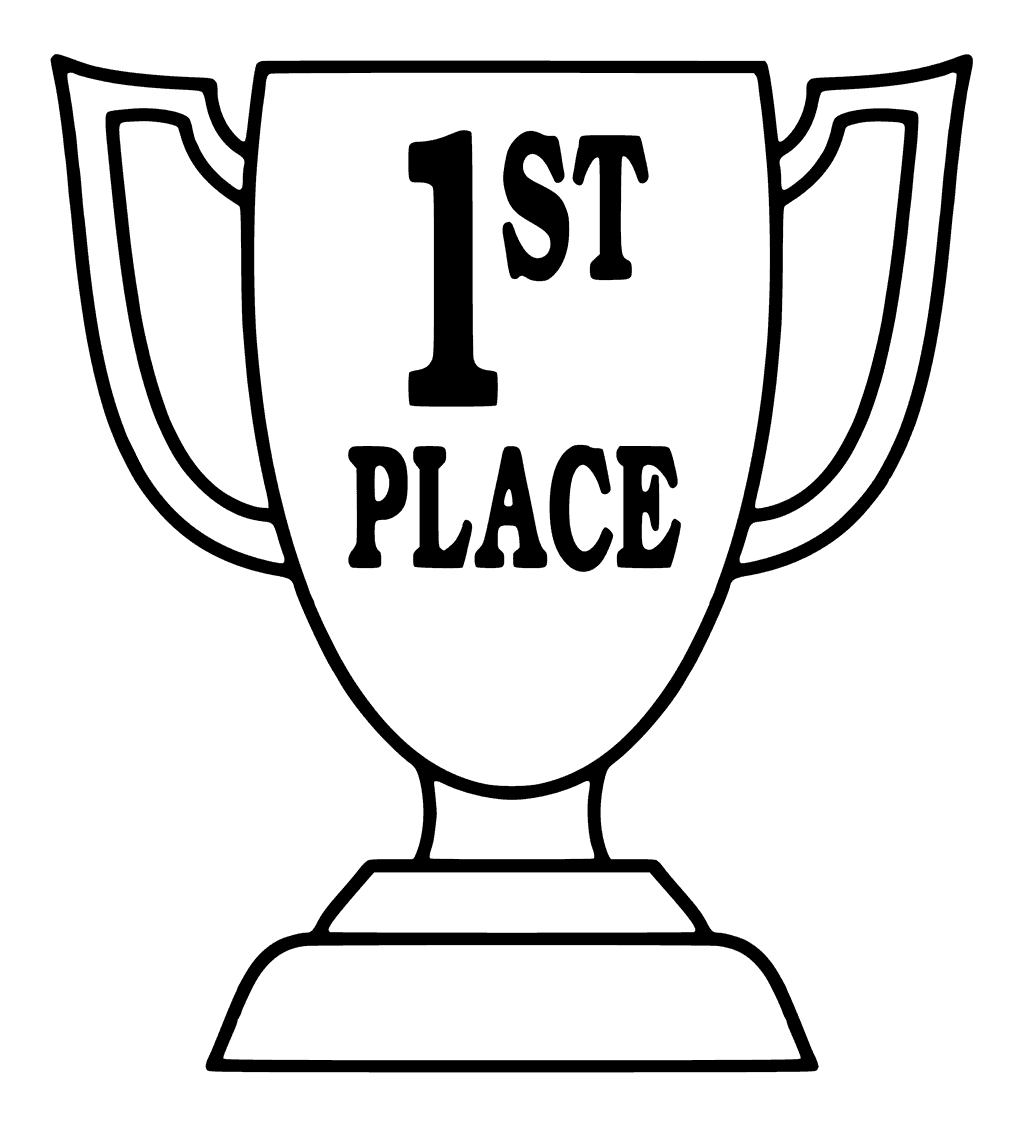 1024x1125 Trophy Coloring Page