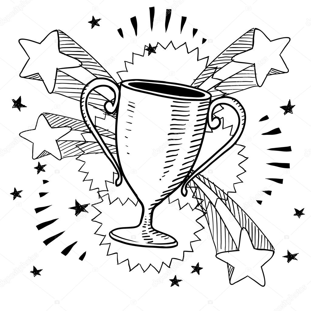 1024x1024 Trophy Or Award Vector Sketch Stock Vector Lhfgraphics