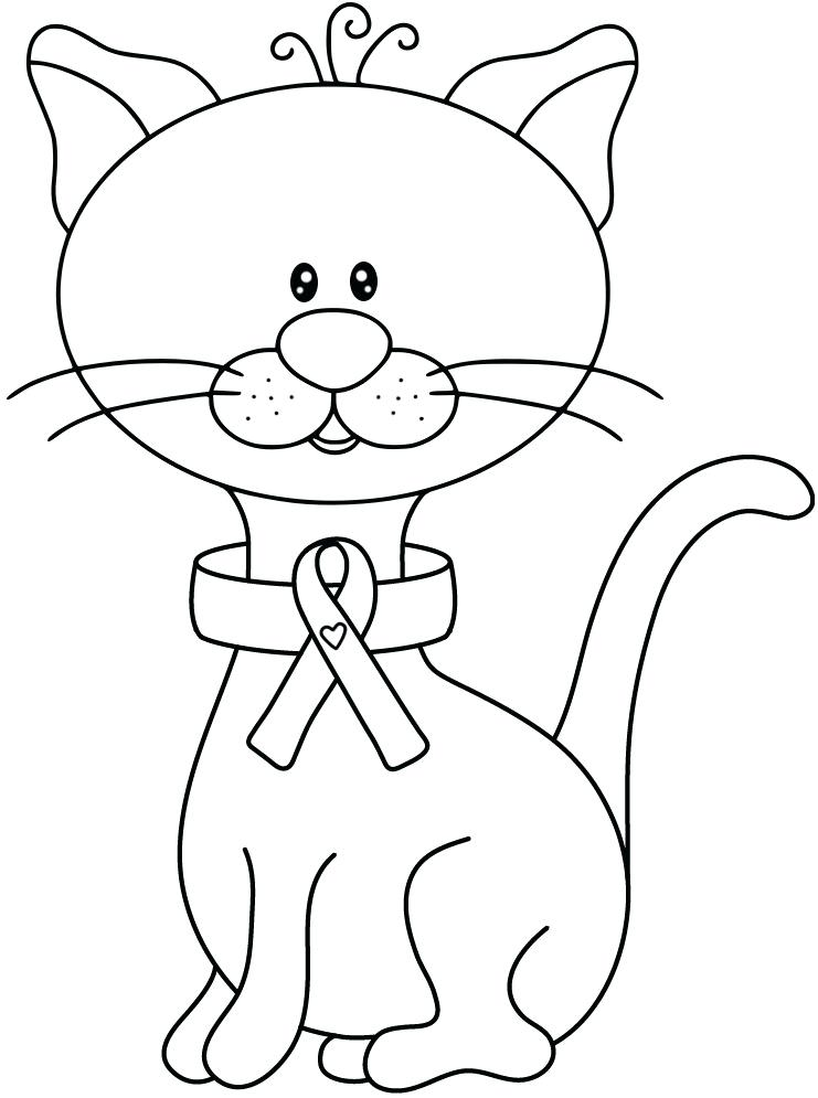 741x995 Cancer Ribbon Coloring Page Breast Cancer Ribbon Coloring Page