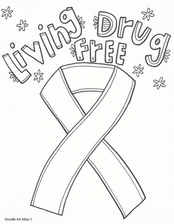 250x323 Red Ribbon Week Coloring Pages And Printables