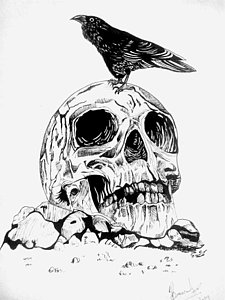 225x300 Cool Skull Drawings Fine Art America