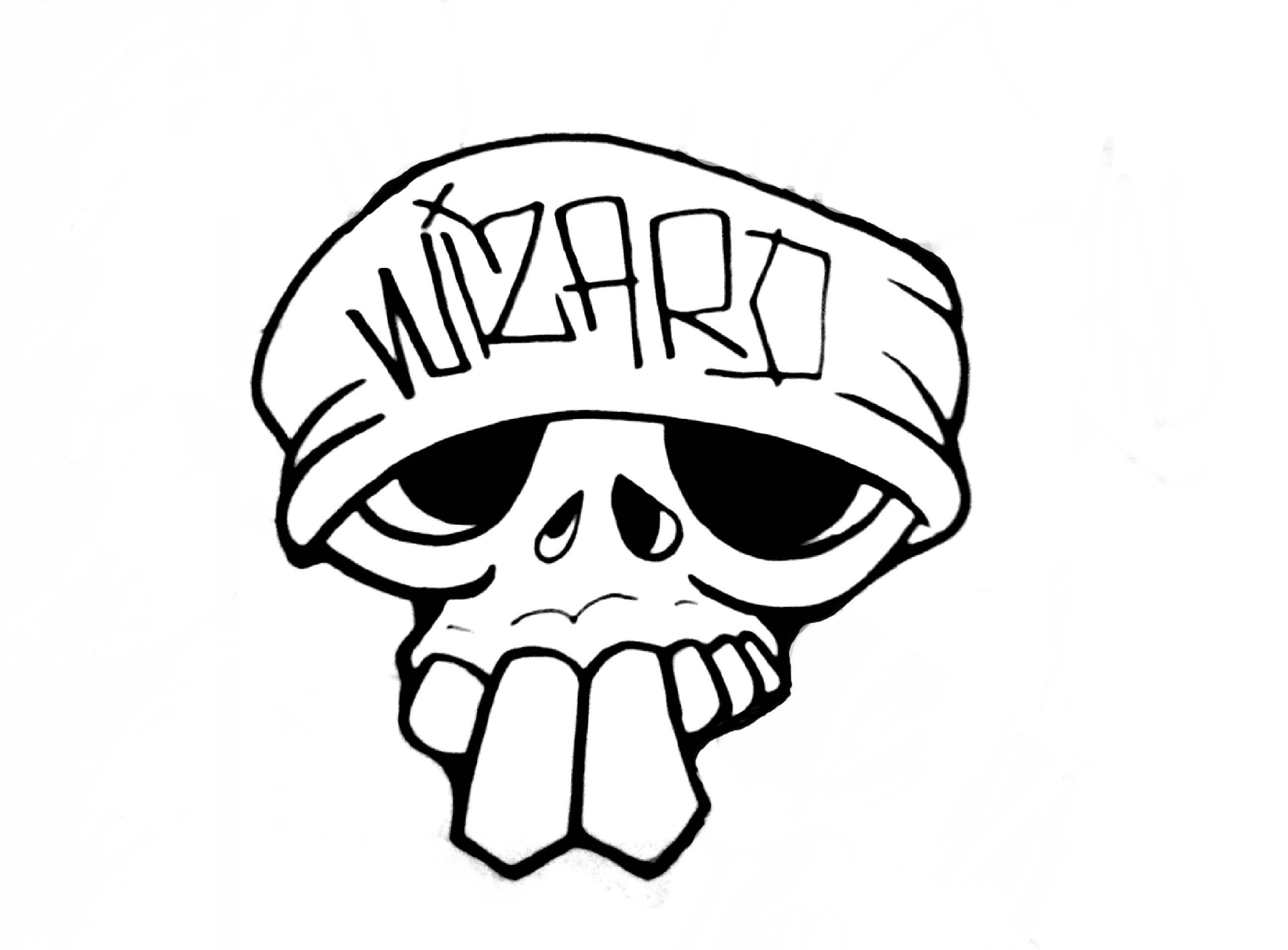 2592x1912 Skull Simple Drawing