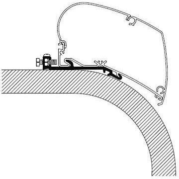 360x360 Thule Omnistor Flat Awning Adapter Serie 6 308097