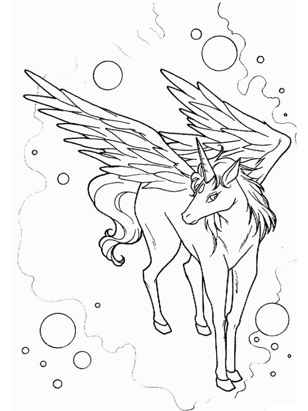 600x800 Awesome Drawing Of Pegasus Coloring Page
