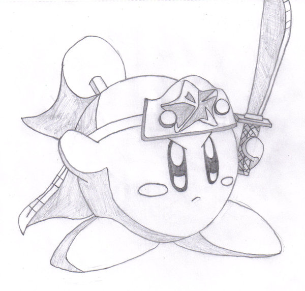 600x572 Awesome Ninja Kirby Drawing By Meowmaster789