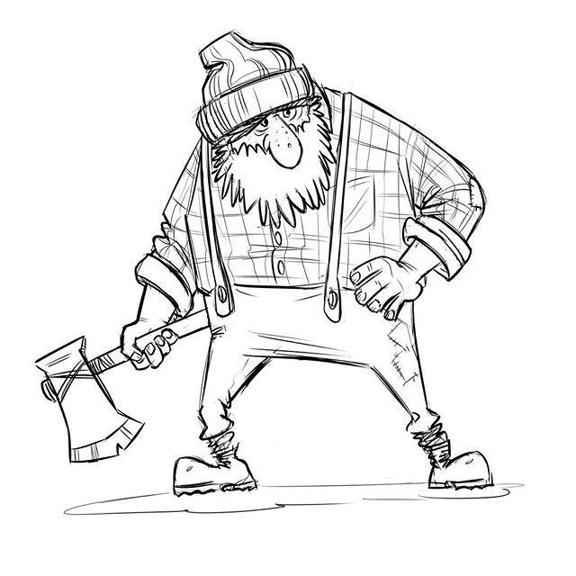 Ax Drawing