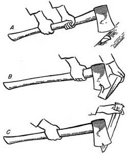248x300 Drawing Of The Three Ways To Grip An Ax. Axe