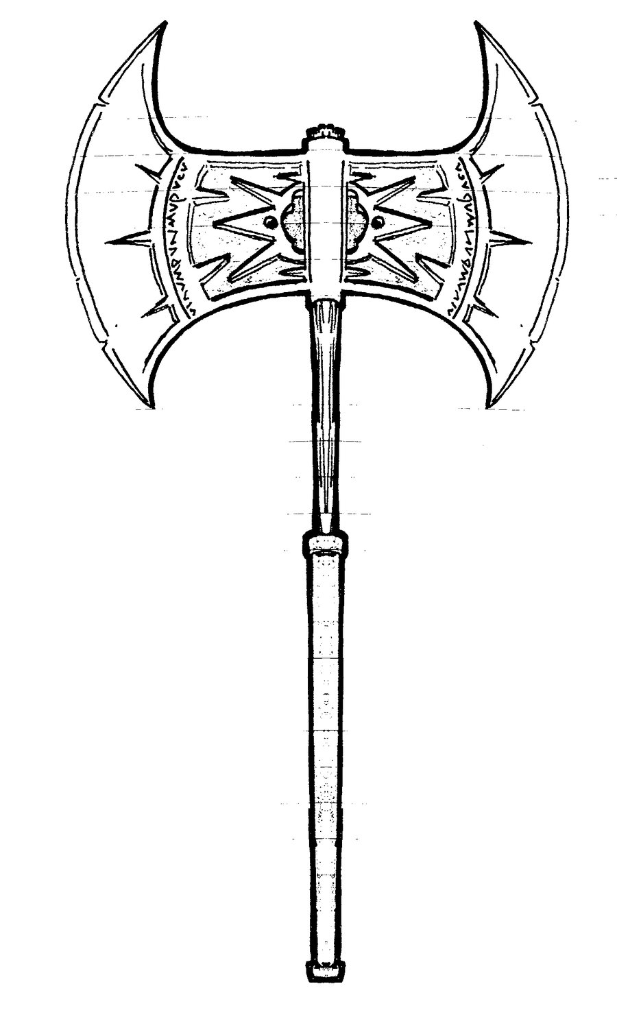900x1486 Battle Axe By Marcelvaneijk