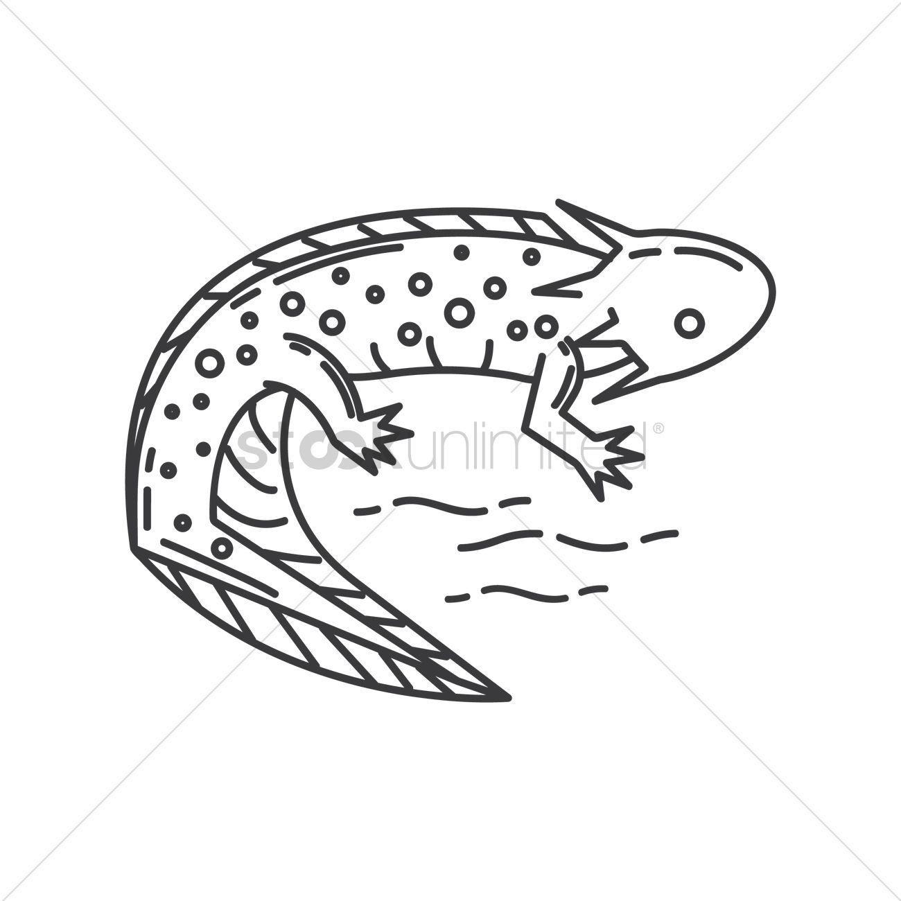 1300x1300 Axolotl Vector Image