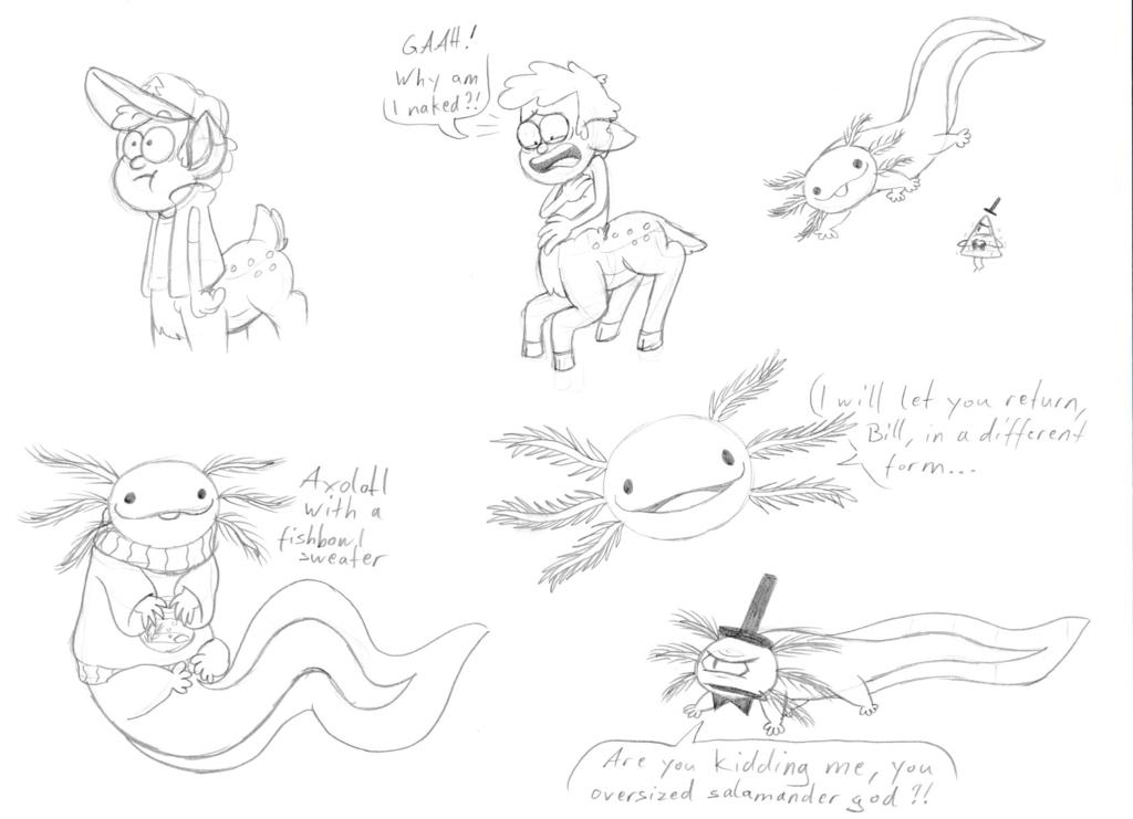 1024x741 Deerper And Axolotl Sketches By Metalatias5