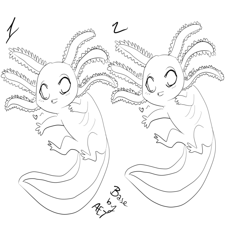 894x894 Axolotl Base By Asthmaticeurotrash