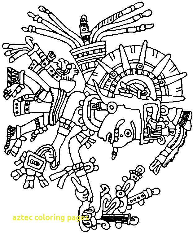 623x759 Aztec Coloring Pages With Aztec Art Coloring Page