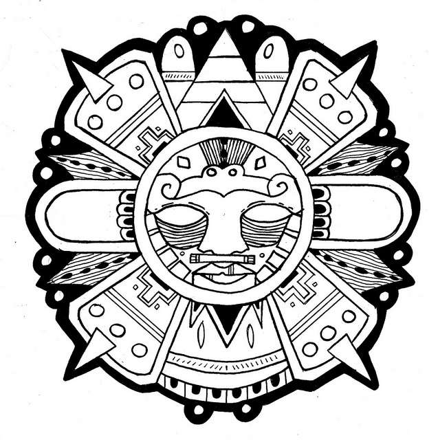 637x640 Gallery For Gt Aztec Sun Work Aztec, Galleries