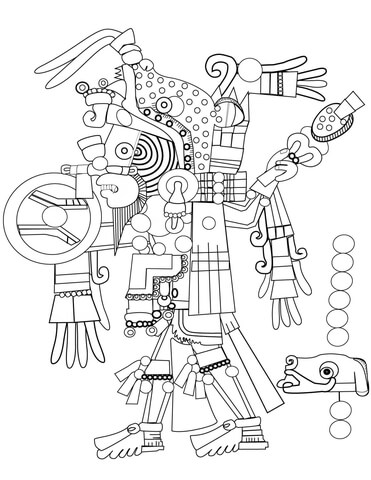 371x480 Aztec Art Coloring Page Free Printable Coloring Pages