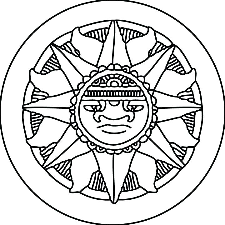 720x720 Best Of Aztec Coloring Pages Images Coloring Sheets Aztec Calendar