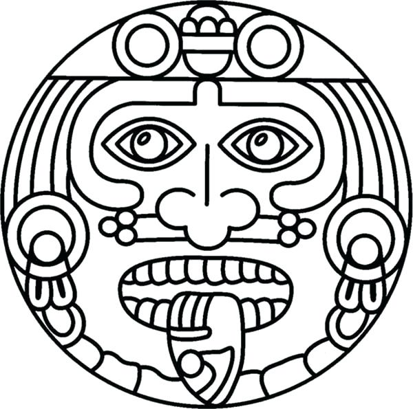 600x595 Best Of Aztec Coloring Pages Images Symbol Of God Coloring Pages